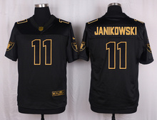 The 50 anniversary black gold men Elite Oakland Raiders Sebastian Janikowski 34 Bo Jackson 32 Marcus Allen(China (Mainland))