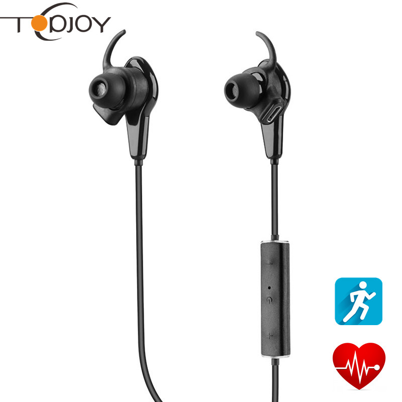 2016 New Wireless Bluetooth Earphone Smart Device Heart Rate Test Pedometer Photo Remote Control Earbud Sport Headset Earphone(China (Mainland))