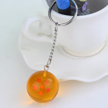 Fantasia & Fantasy Anime Goku Dragon Ball Super Chaveiro 3D 1-7 Estrelas Cosplay chaveiro Bola de Cristal Coleção brinquedo do Anel chave do Presente(China)