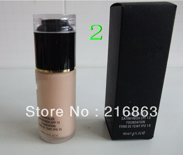 Free shipping prevent oil sunscreen 4 colors for choice liquid foundation 40ml