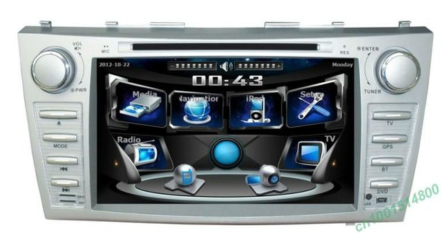8'' indash dvd player gps with rear view camera camera and bluetooth for Toyota Camry 2007-2011