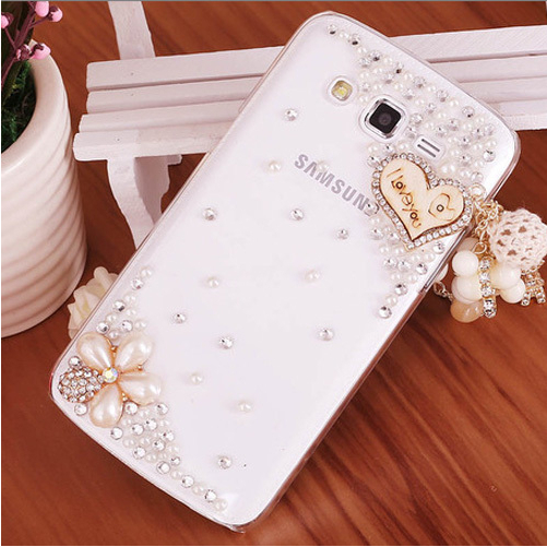 Luxury 3D Love Pendant bling Crystal Rhinestone diamond Mobile phone Hard case cover Samsung Galaxy Grand 2 G7106 G7102 - LOVE FASHION CASE store