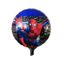 Sorte 1pcs 18 polegada Spiderman Avengers Heros Sequaz Mickey Fontes Do Partido Joaninha Dos Desenhos Animados Folha De Balão De Hélio Decorações Do Partido(China)