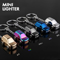 USB Rechargeable Car Pendant Mini Flameless Lighter Custom Personalized Metal Windproof Personality Lettering Gift Of Man
