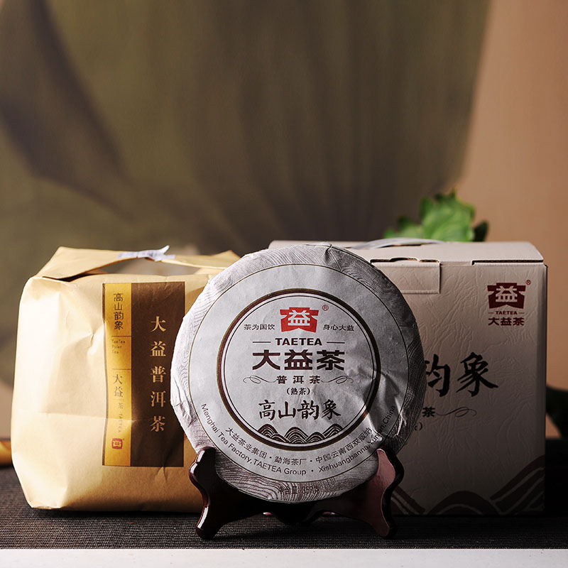 [GRANDNESS] Gao Shan Yun Xiang * Cake Beeng 2015 TAETEA Dayi 357g YunNan Organic Puer Ripe Tea Cooked Shou Cha Weight Loss Slim<br><br>Aliexpress