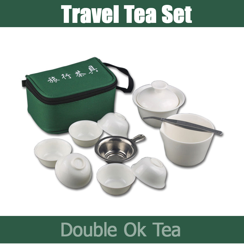 New 2014 Ceramic Chinese Portable Travel Tea Set Pure