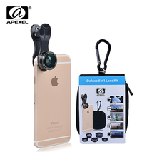 Buy 5 1 Universal Clip Camera Mobile Phone Lens Fish Eye + Macro + Wide Angle + telephoto lens 2X +CPL lens iphone 6 xiaomi for $8.99 in AliExpress store