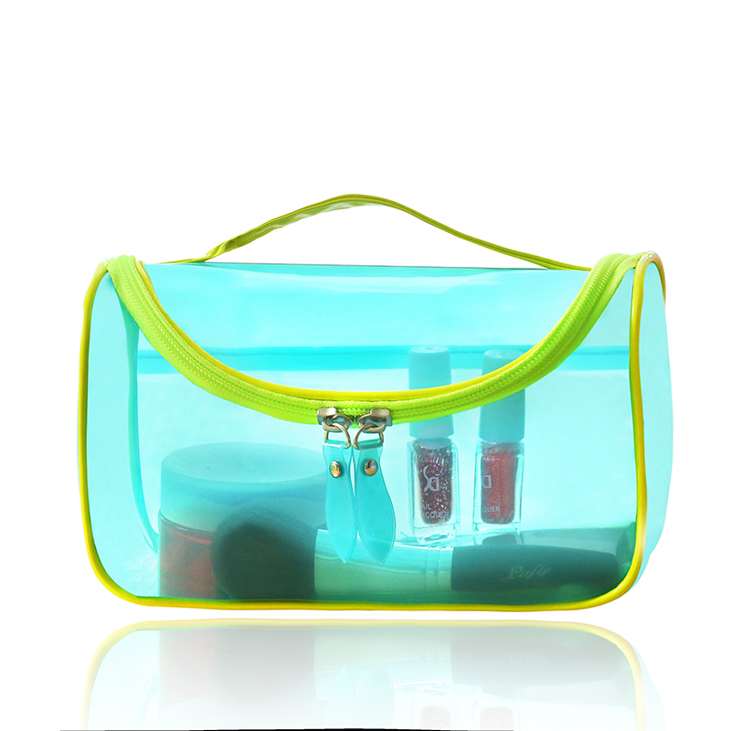 travel wash bag jelly bag candy color cosmetic tote bag translucent waterproof case toiletry makeup organizer transparent pouch(China (Mainland))