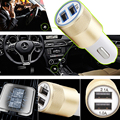 Universal USB Car Charger 2 1V Double USB Metal Car charger Mobile Phone Charging Small Steel