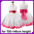 NEW Arrival 2016 Children Summer Dress Floral Girls Party High grade Princess Dress Chiffon Chic Waist
