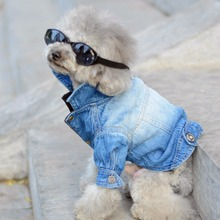 Dog Clothes Denim jacket Fashion Pet Clothes For Yorkshire Chihuahua Teddy Dogs Cowboy Clothing Spring And Autumn Cat Coat Jeans(China (Mainland))