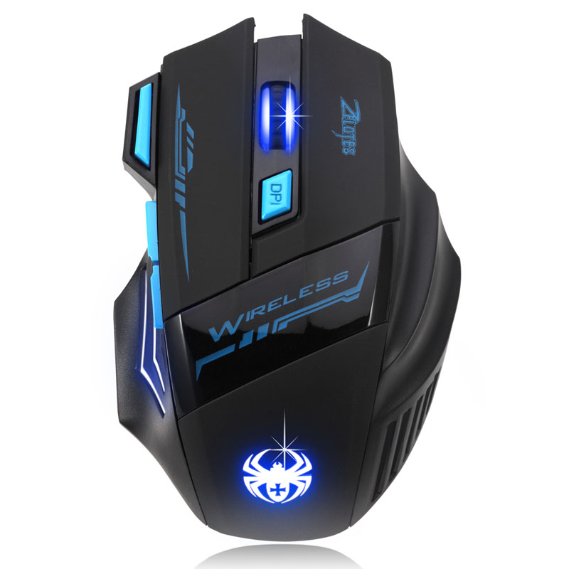 2016 Adjustable For Pro Gamer 2400DPI Optical Wireless Gaming Mouse Gamer For Laptop PC Computer accessories Top quality #LYFE06(China (Mainland))