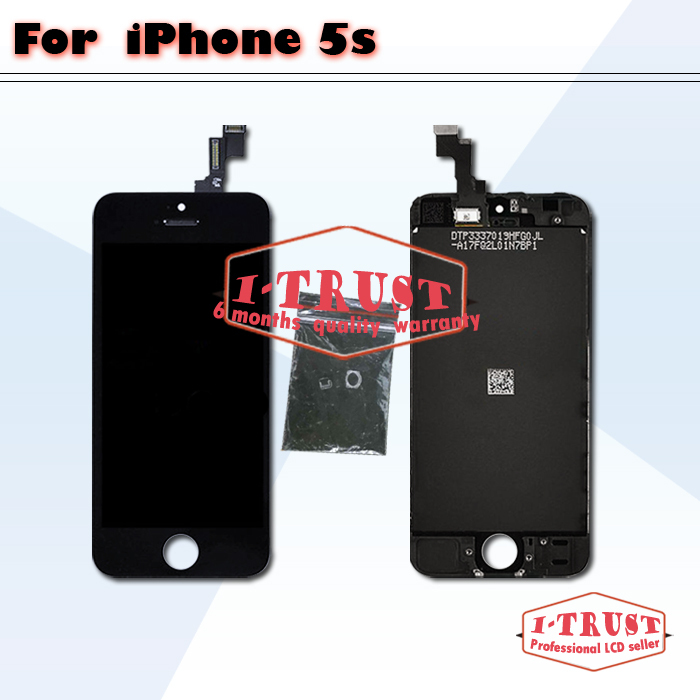 10 pcs lot Glass Touch Screen Digitizer & LCD Assembly Replacement For iPhone 5S black and white color & Free DHL