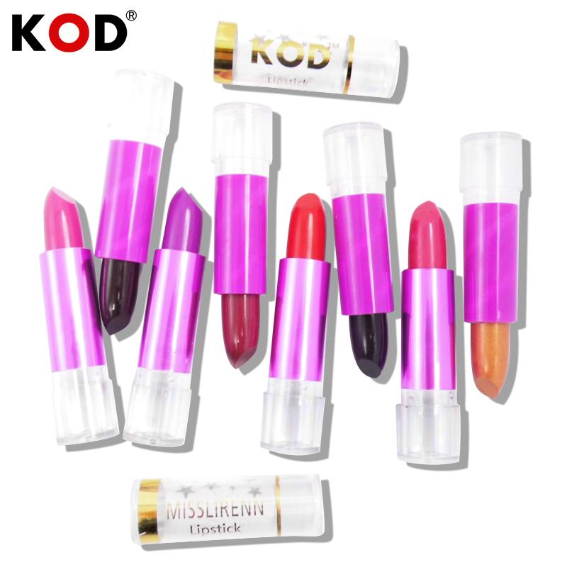 wholesale!!KOD Brand Moisturizer Long Lasting Waterproof Matte Lipstick Nude lip stick lipgloss 1pcs