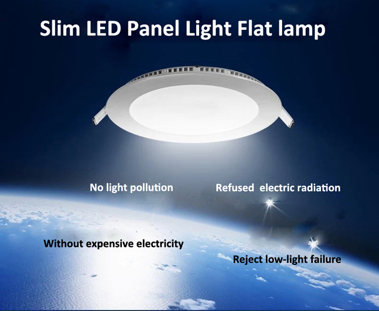 Ultra thin design 3W / 6W / 9W / 12W / 15W LED ceiling recessed grid downlight / slim round panel light post free shipping<br><br>Aliexpress