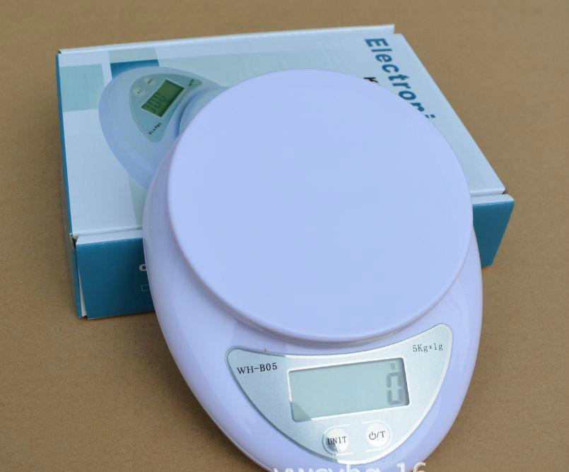 Accurate Digital Scale 5KG / 1G Household Kitchen Cooking Food Diet Grams OZ LB 5000g Electronic Bench balance Weighing Scales