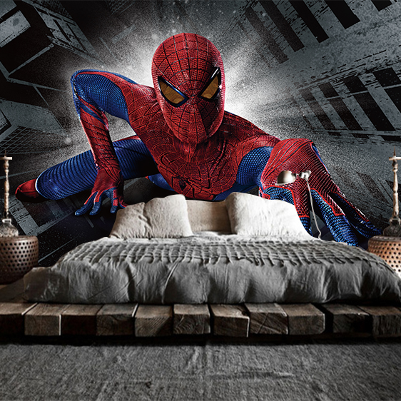 Online kopen wholesale spiderman behang uit china spiderman behang groothandel - Decoratie corridor ...