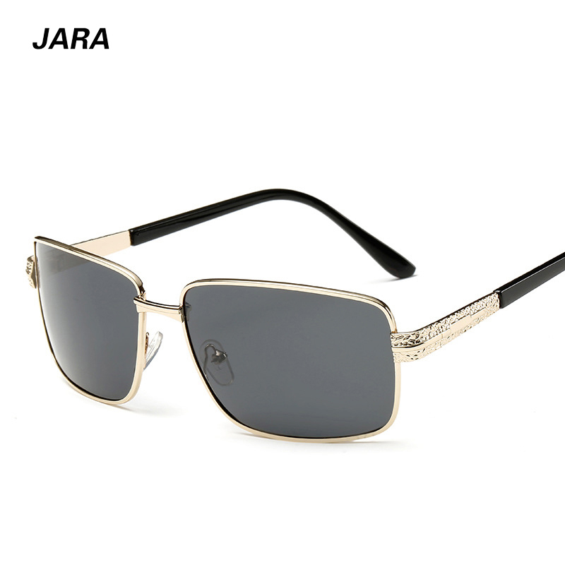JARA 2016 New Arrival Men's Polarized Sunglasses Night Vision Rectangle Outdoor Driving Fishing Classic Style Sunglasses(China (Mainland))