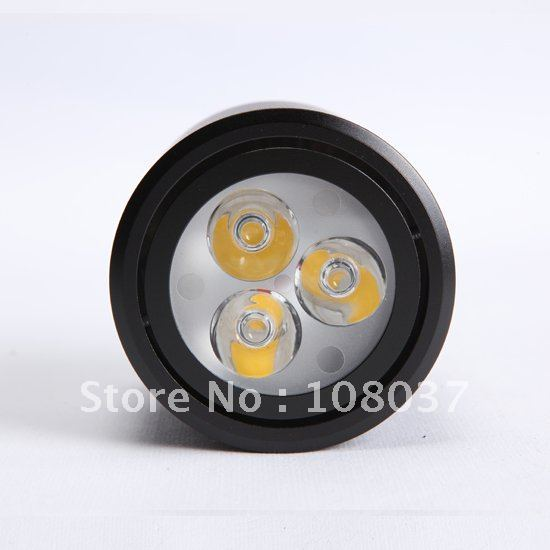 [ GH-TD-04B ]  led open-mounted led downlight 3w 280 LM ac85-265v WW/PW/CW led ceiling lights 2yrs