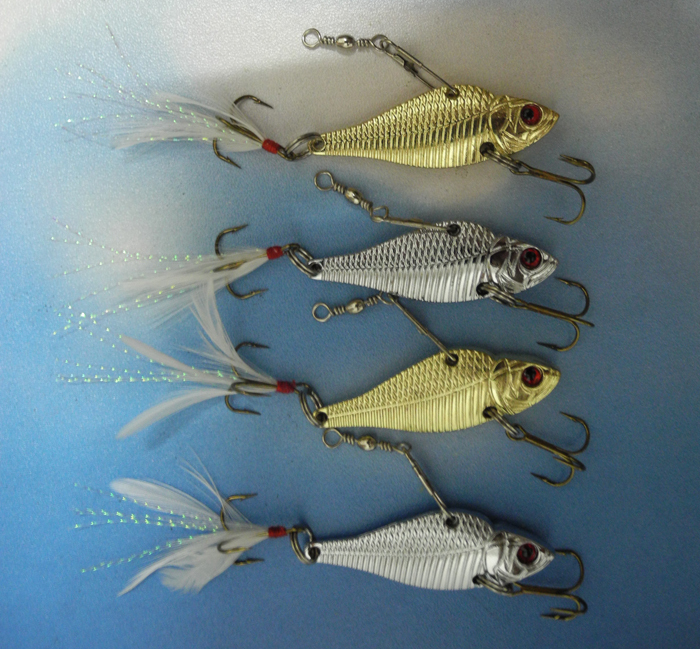 VIB Spinner Fishing Lure 5cm/13g Diving Metal Fish Hard Bait Hook Tackle - discover fun store
