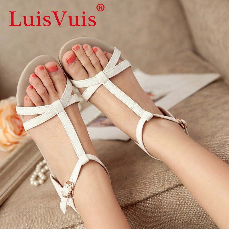 women real genuine leather bohemia slippers summer party flat sandals sexy fashion brand heeled ladies shoes size 35-40 R5742<br><br>Aliexpress