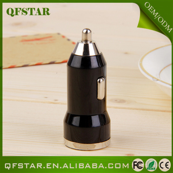 Factory price steady quality colorful mobile phone universal mini usb single car charger usb(China (Mainland))