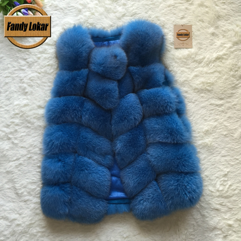 Real Fox Fur Vest Women 2015 Winter New Fashion Slims Medium Long Genuine Natural Mink Vests Female Casacos Mex Poncho - Fandy Lokar store