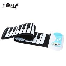 Hot Sale Educational Electone 37 keys Portable Flexible Silicon Roll-up Piano Keyboard Toy Musical Instrument for Children Kids(China (Mainland))