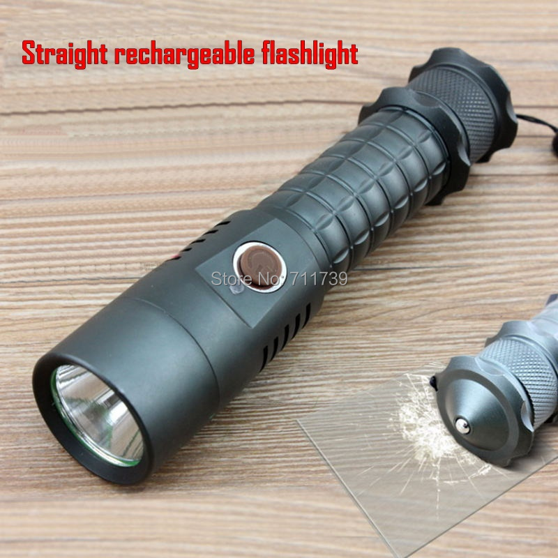 ALONEFIRE Straight rechargeable Flashlight Cree XML Led Flashlight Torch Camping Equipment Lamps Police Flashlight Waterproof-X2