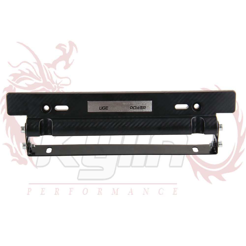 KYLIN STORE -- New UGE Style Adjustable Carbon Fiber Look Bumber Plate , License plate frame(China (Mainland))