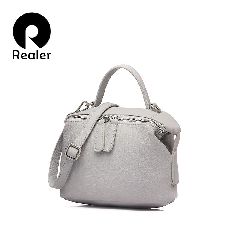 Realer Famous Brand Design Solid Women Bowling Handbag Woman Boston Messenger Bag Serpentine Leather Bag For Ladies(China (Mainland))