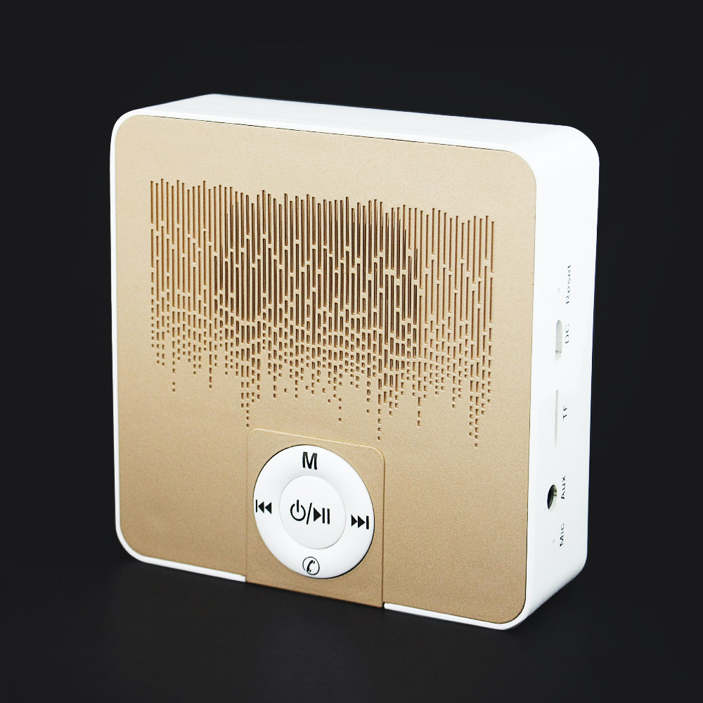 Golden Luxury Portable Mini Bluetooth Speaker Wireless Smart Hands Free Call Speakers Support TF Card for xiaomi iphone samsung(China (Mainland))