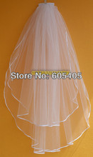 Buy 2T Simple White/ivory Satin Edge Short Bridal Wedding Veil / Tiara Fixed Comb for $4.20 in AliExpress store