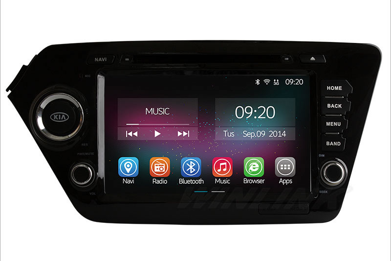 Quad Core Android 4 4 For KIA RIO K2 2011 2012 2013 Car DVD Player GPS