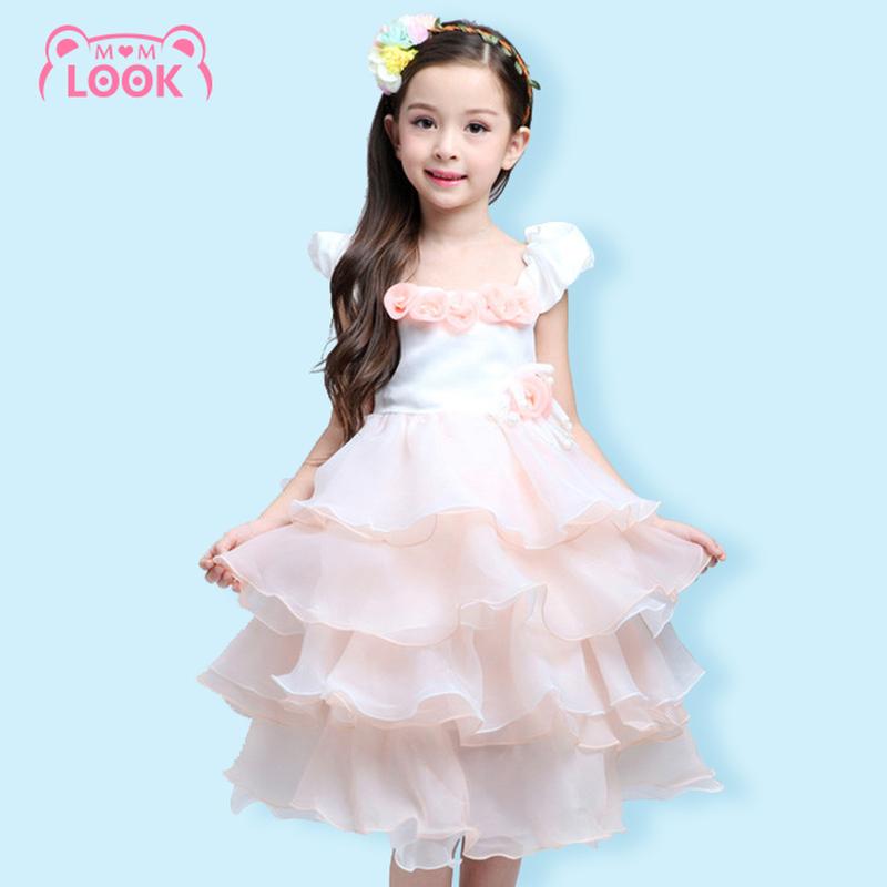 2-7 Years Old Baby Girls Dress 2016 Brand Princess Dress for Girls Clothes Designer Kids Dresses Children Clothing(China (Mainland))