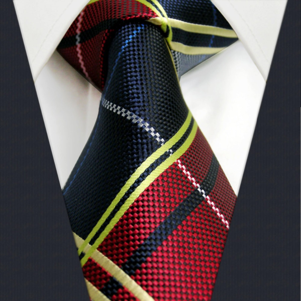 U21 multicolor checked pattern mens tie matching hanky for Mens shirts with matching ties