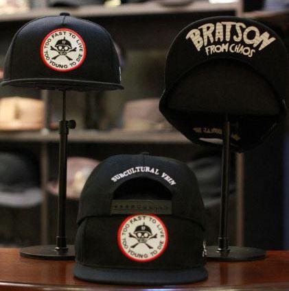 2015 Fashion Unisex Snapbacks Skateboard Hip-hop Hat Baseball Caps Skull Embroidery Flat-brimmed Cap Men Women - KF Store store
