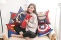 Super Hero Print Cotton Linen Sofa Cushion Embrace Pillow 45x45cm 17 7x17 7 Home pillow Decoration