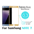 NEW for samsung galaxy NOTE 7 full cover 3D tempered glass screen protector 0 3mm 9H