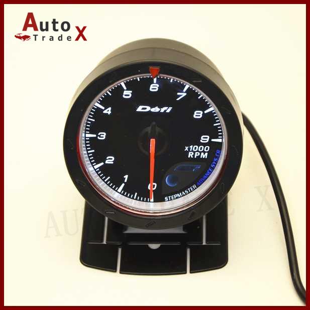 AutoTradeX-2.5 60MM DF Advance CR Gauge Meter Tachometer RPM Gauges Black Face<br><br>Aliexpress