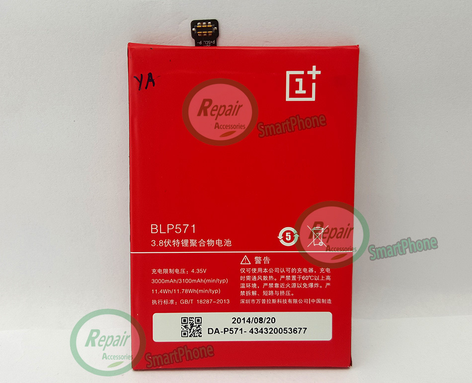 100 Original BLP571 3100mAH Battery For BLP571 oneplus one Smart Mobile Phone Free Shipping Tracking Number