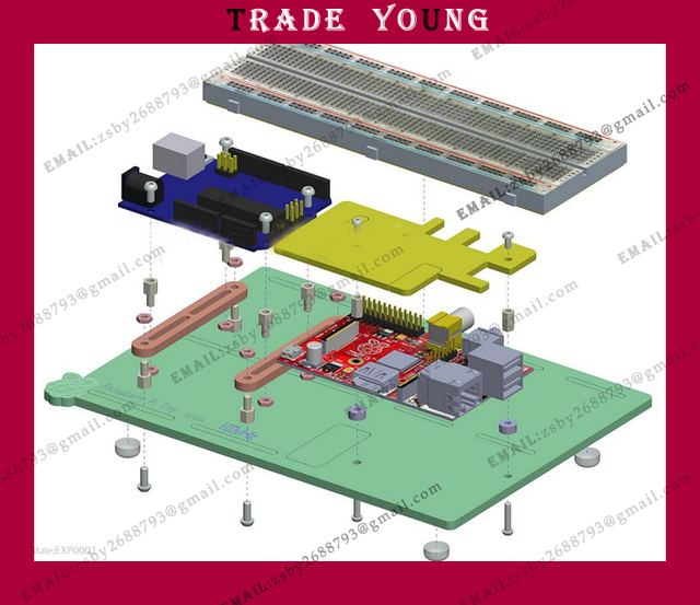 For Raspberry Pi For Arduino UNO R3 the GPIO expansion board , the experimental tray board kit
