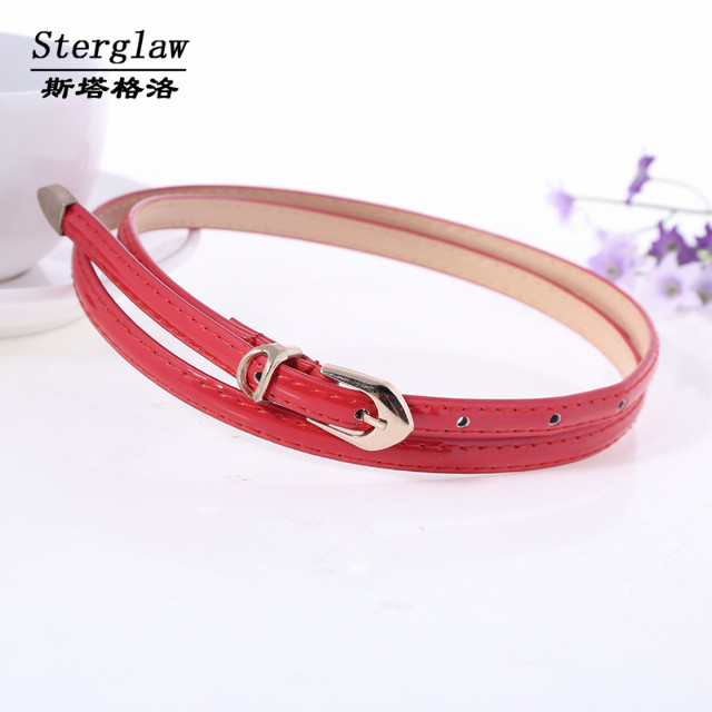 Multicolor thin belts for women 2016 HOT Simple fashion casual ladies belt for Women's skirt ceinture femme sterglaw B003(China (Mainland))