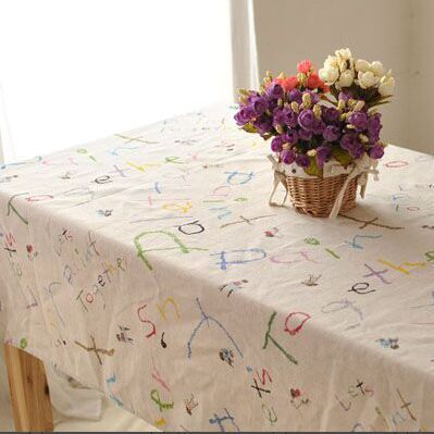 Household Cotton Canvas table cloth table Pastoral Tablecloth Universal cover towel(China (Mainland))