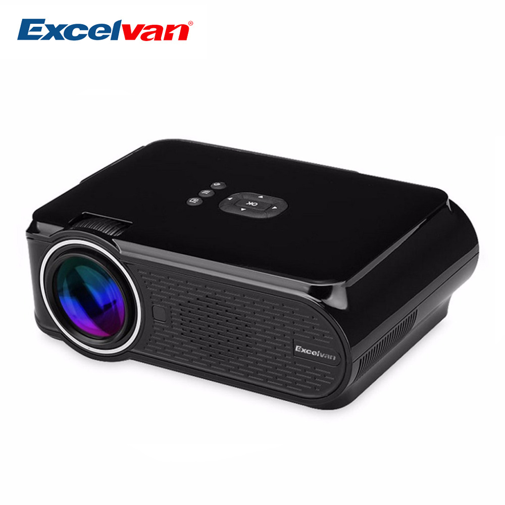 Excelvan EHD02 Portable Mini LED Projector 800*480Multimedia Home Cinema Theater Projector With VGA HDMI USB SD AV ATV Input(China (Mainland))