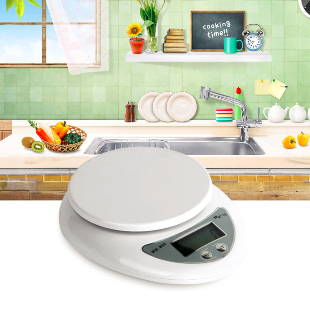 image for 1PC 5000g 5kg 1g  LCD Display Weight Balance Digital Kitchen Scales Fo