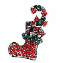 Design Chic Sveglio Creativo Spilla di Strass Speciale Divertente Popolare Ultime Voce Carina di Natale(China)