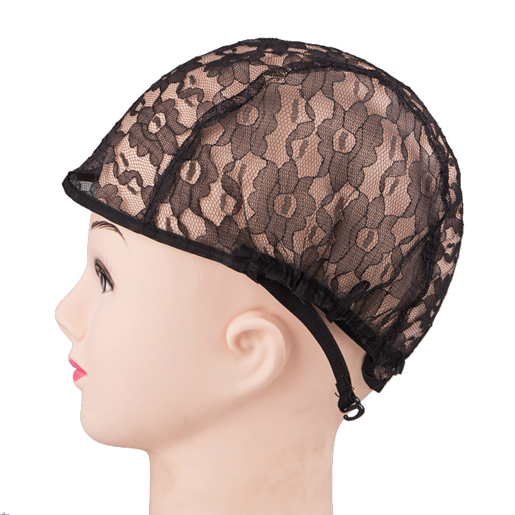 2015 Medium Size Black  lace Wig Caps For Making Weaving Wigs With Adjustable stretch lace Strap On The Black<br><br>Aliexpress