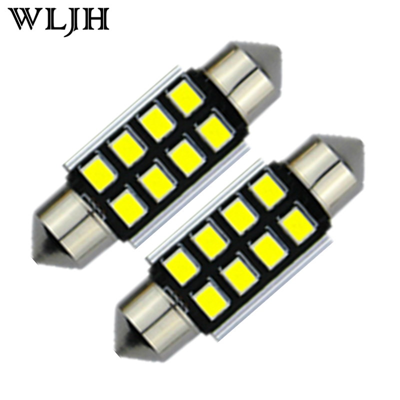 10pcs White C5W 36mm Pure CANbus LED Error Free Bulbs For Samsung 2835 SMD License Plate Light For B
