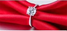Crazy 90 OFF Fashion White Gold Filled Wedding Rings For Women Brand Luxury 3 Carat CZ